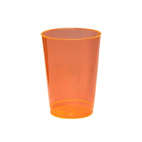 Party Essentials N102555 Brights Plastic Party Cups/Tumblers, 10-Ounce Capacity, Neon Orange (Case of