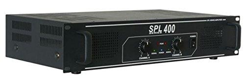 Skytec SPL 400 Haus Verkabelt Schwarz - Audioverstärker (400 W, 0,5%, 95 dB, 82 dB, 775 mV, 10000 Ohm)