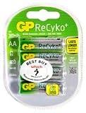 Dynamische Leistung GP BATTERIES - GP210AAHCB - C4 - Akku, NIMH AA RECYKO 2000 mAh , 4 Stück - 4 Stück