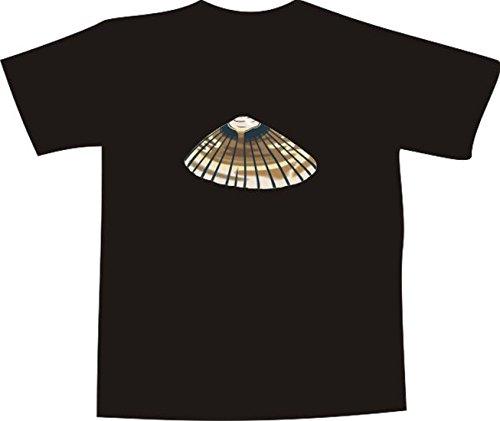 T-Shirt E580 Schönes T-Shirt mit farbigem Brustaufdruck - Logo / Grafik - Comic Design - schöne große Südsee Muschel Schwarz