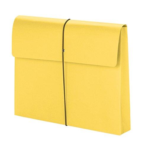 Smead Dehnbare Geldbörse mit Gummibandverschluss, Buchstabengröße, 5,1 cm Erweiterung 10 per Box Elastic Closure/Yellow (Akkordeon Ordner, Brief)