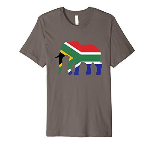 Elefant Südafrika T-Shirt Afrikanische Flagge Safari (Flagge Afrikanische)