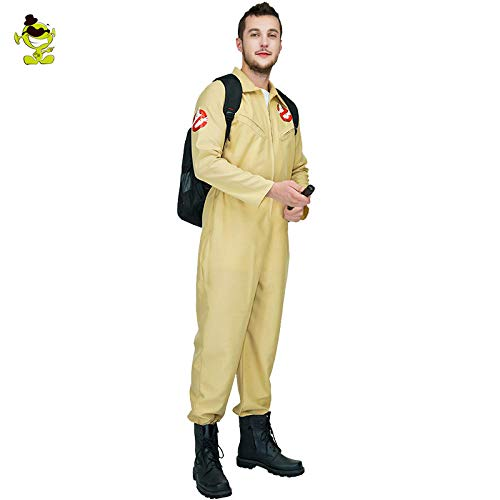 Größe Kostüm Ghostbusters 20 - GAOGUAIG AA Männer Ghostbusters Cosplay Kostüm Ghostbusters Uniform Overalls for Karneval Party Rolle Spielen Ghostbuster Kostüme SD (Color : Onecolor, Size : Onesize)