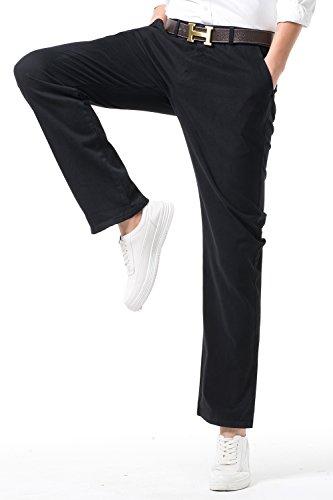 INFLATION Herren Chino Hose Regular Fit Casual Stoffhose Chinohose für Männer und Jungen Hose für Freizeit Arbeit Urlaub Elastisch MH104 Navyblau 31