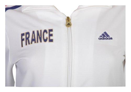 Adidas Veste de sur vêtement de l'équipe de France de football pour femmes Blanc - White/Midblue