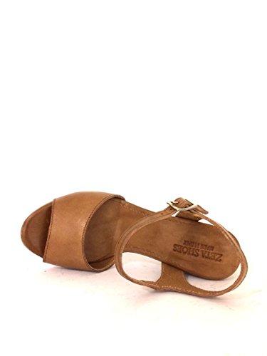 Sandali tacco comodo NNau92 in pelle made nero cuoio blu MainApps Cuoio