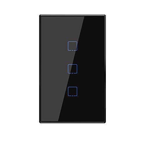 BSDK Control Remoto WiFi Smart Wall Switch, EE. UU, (3 Grupos), Compatible...