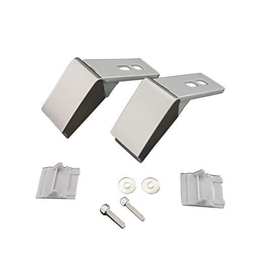 2 x Scharnier passend für Liebherr Kühlschrank Reparatur Satz 9590178 9590190 9590124 Edelstahl Farben