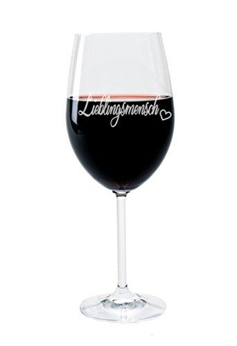 Leonardo Weinglas mit Gravur Motiv