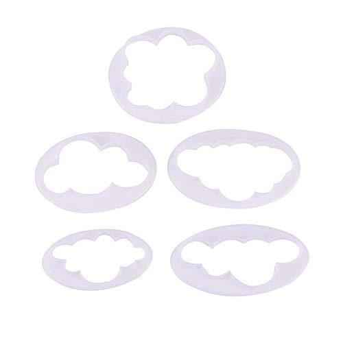 Ndier Molde de Silicona para Tartas, decoración de Pasteles, Molde Cortador de Molde para Hornear Tartas, Hornear, Hornear, Pasta de Goma, Herramientas de Modelado, 5 Piezas