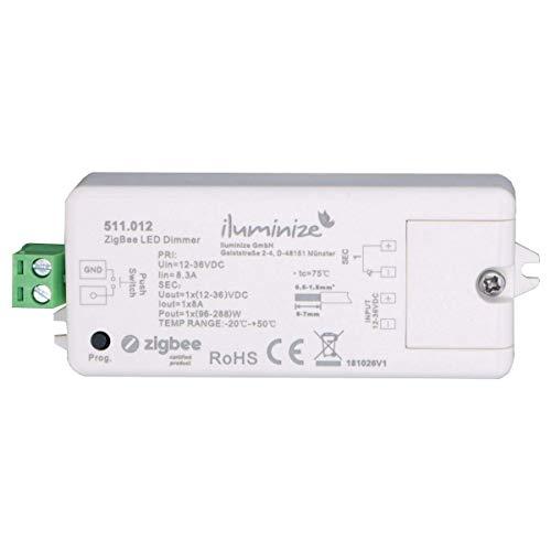 iluminize Zigbee 3.0 LED-Controller 1x 8A, 12V-36V, für weiße LEDs, Lightlink & Touchlink (1x 8A weiß) 12v Controller
