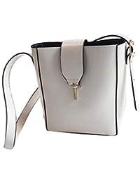 da5ee2e7005ca BORKE Outdoor Travel Schultertasche Leder Wasserdicht Frauen Tasche  Portable Tragetaschen Freizeit Vintage Messenger Bag…
