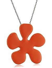 Pilgrim Jewelry Damen-Halskette mit Anhänger aus der Serie Classic versilbert orange 40.0 cm 601316911