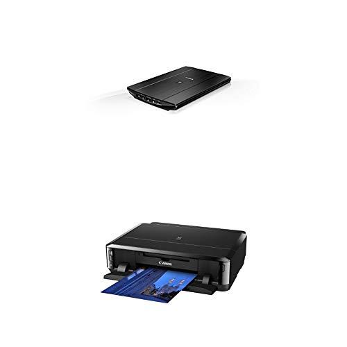Canon Lide 220 Scanner (A4-Flachbett, CIS Sensor, 4,800 x 4,800 dpi, USB-Stromversorgung) schwarz + Pixma iP7250 Farbtintenstrahl Drucker, schwarz
