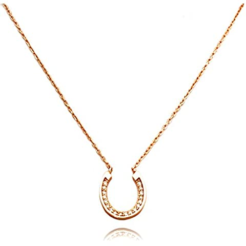 Collana in Argento TIONEER® Piccolo ferro di cavallo Charm Sterling con 16