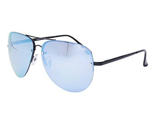 Quay Australia Unisex MUSE Sonnenbrille, Schwarz (BLK/PURP MIRROR), One size (Herstellergröße: Einheitsgröße)