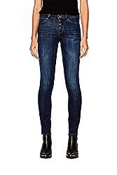 edc by ESPRIT Damen 998CC1B829 Slim Jeans, Blau (Blue Dark Wash 901), W30/L32 (Herstellergröße: 30/32)