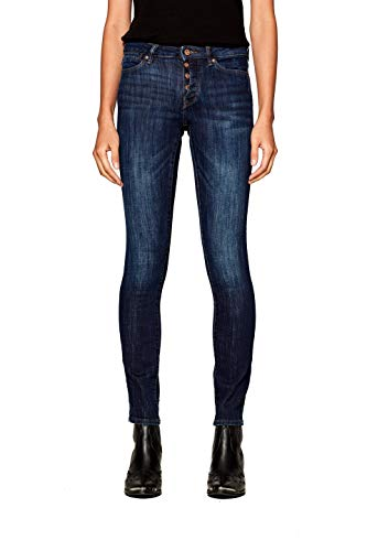 Dark Wash Blue Jean (edc by ESPRIT Damen 998CC1B829 Slim Jeans, Blau (Blue Dark Wash 901), W28/L30 (Herstellergröße: 28/30))