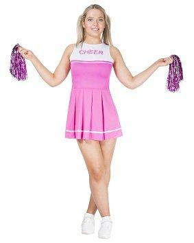 Rosa Cheerleader Outfit Größe M Damen Kostüm Karneval 50104