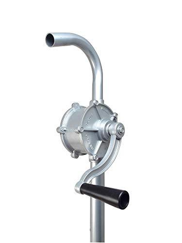 DWT-Germany 101340 Ø 25 mm Kurbelfasspumpe Fasspumpe Handpumpe G2 Fassverschraubung Kurbelpumpe Aus Aluminium Umfüllpumpe Ölpumpe