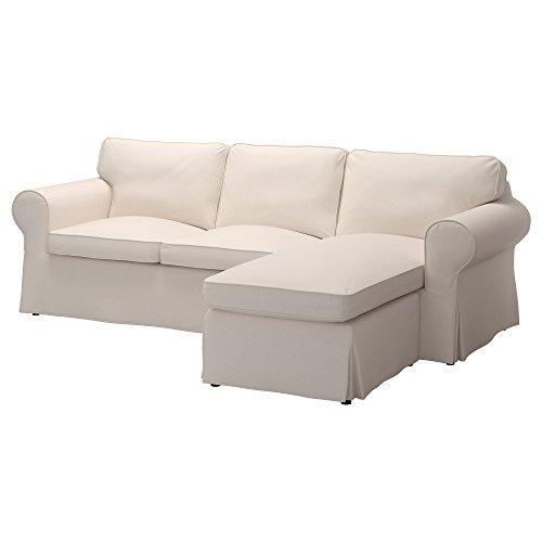 Ektorp Sofa (Ikea Original Ektorp Bezug für Sofa mit Chaise 3-Sitzer (Nur Bezug) Sectional 4-Seat Corner Lofallet Beige)