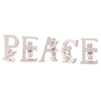 Set of 5 Angel Cherub PEACE Ornaments Figures Grave Memorial