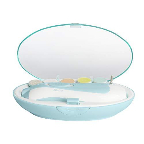 Elektrische Baby Nagelfeile, Maniküre & Pediküre Nagelpflege Set 6 in 1 Nagelfeile mit LED- Licht für Babys, Kleinkind, Erwachsene, gesund und Sicher, macht baby fröhlich (Batterien NICHT inklusive)