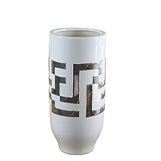 Import Collection Amara Vase weiß/Silber