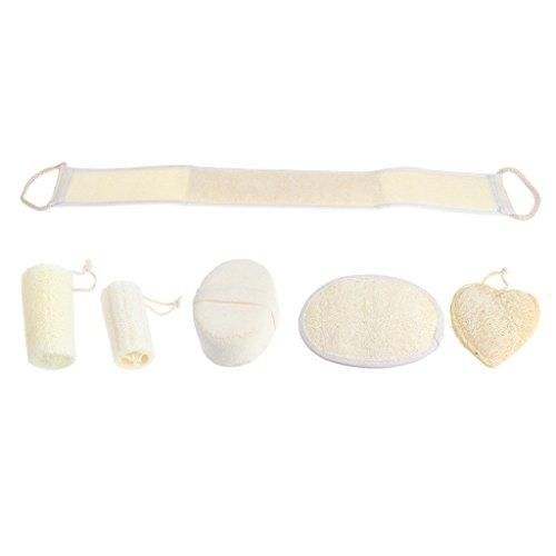 Scheda dettagliata MagiDeal 6 Pezzi/Set Naturale Spugna Bagno Doccia Asciugamano per la Pulizia del Corpo