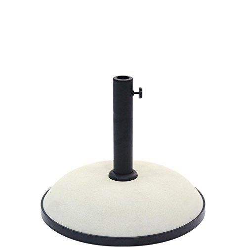 BUTLERS THE ROCK Schirmständer mit Fuß- Sonnenschirmständer für unterschiedliche Schirmstangen-Größen - Beton/Zement - standfest 30 kg - Balkon, Garten