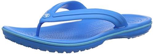 Crocs Crocband Flip, Unisex - Erwachsene Zehentrenner, Blau (Ocean-Electric Blue), 39/40 EU
