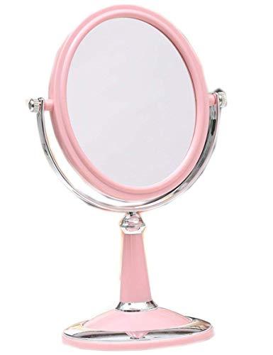 Preisvergleich Produktbild WALIZIWEI Mini Portable Dual Face Office Spiegel Spiegel Außenspiegel tragbares Hochzeit Geschenk Hd Desktop Spiegel für Schlafzimmer und Bad (Farbe 3)