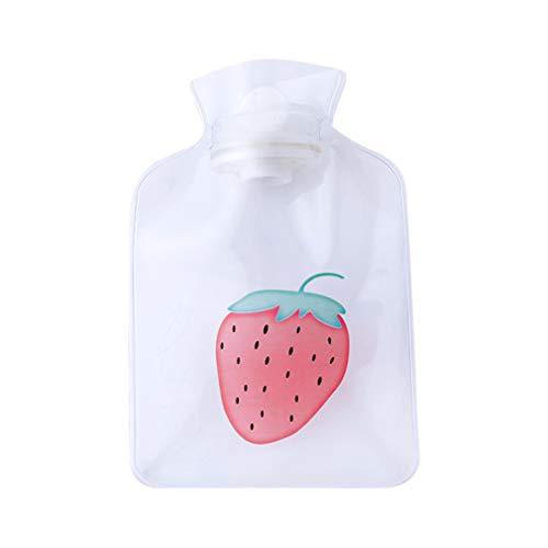 Cabilock transparente Wärmflasche gegen Arthritis Kopfschmerzen Handwärmer (Erdbeere) -