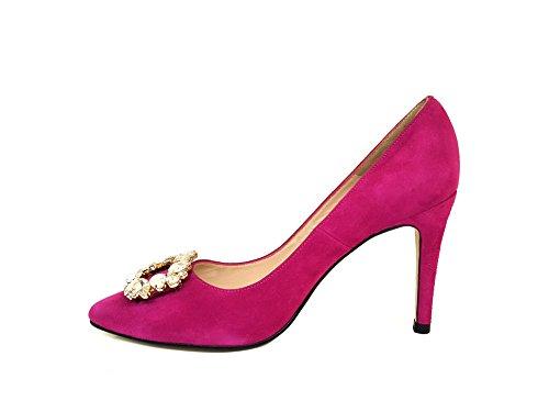 E Pelle Pompe In Mimpre Rosa Cristallo rosa Pietre Gennia Tacco Alta Donne Decorazioni A Con In Ray Spillo Le Di Scamosciata n0wq4awS5