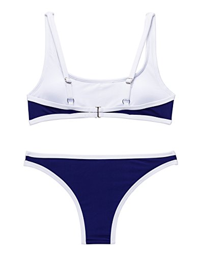 sanke frauen paded puch auf zwei stücke badeanzug training bikini - set Marine