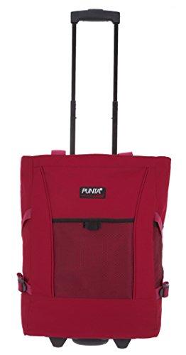 2er SET: PUNTA WHEEL Einkaufstrolley Einkaufsroller + Faltschopper [AUSWAHL] Red Uni 06980-0200