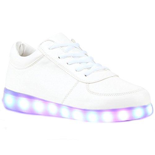 (present: Pequena Toalha) Junglest® Meninos Meninas Sapatos De Couro Da Sapatilha C33 Brilhante Cor Mudança De Fluorescência Sneakers Schu