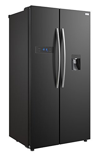 Russell Hobbs American Style Fridge freezer, 90cm wide, Side by Side, A+ efficiency, RH90FF176B-WD 2 Year Warranty** (Black) Best Price and Cheapest