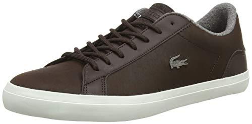 Lacoste Herren Lerond 318 2 Cam Sneaker, Braun (Dk BRW 2e2), 41 EU