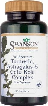 Swanson Full Spectrum Turmeric, Astragalus & Gotu Kola Complex (60 Capsules) from Swanson Health Products