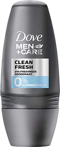 Dove Men+Care Deo Roll-On Clean Fresh ohne Aluminium, 6er Pack (6 x 50 ml)