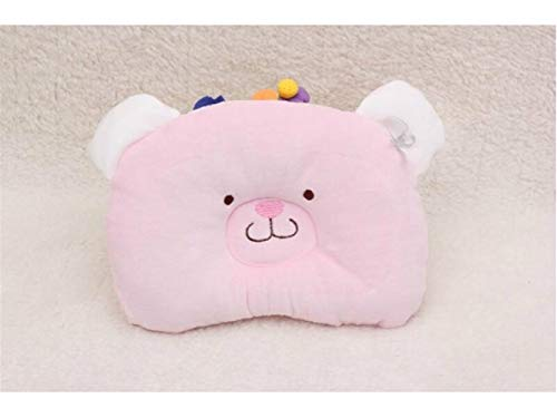 Godlife Almohada de bebé Baby Sheep Pillow New Born Baby Almohada de algodón y Cuello Suppor Sleeping Cushion (Amarillo) para Dormir (Color : Pink)