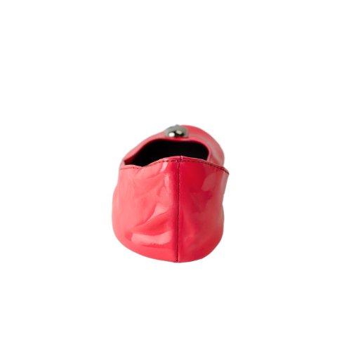 Scarpe ballerina piegabille con cranio disponibile in molti colori e tagli fino 43,5 con una borsa in raso Rosa