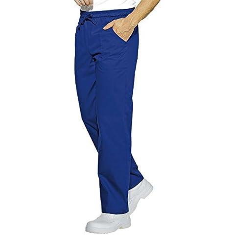 Isacco-Pantaloni da cucina, colore: blu ciano