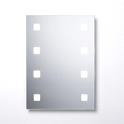 Cooke & Lewis Tajo zeitgenössisch beleuchtet rechteckig Spiegel Anti-Beschlag Aufleuchtend Badezimmer Eitelkeit Wandmontage Zubehör (W) 450mm (H) 600mm ('w-badezimmer-eitelkeit)
