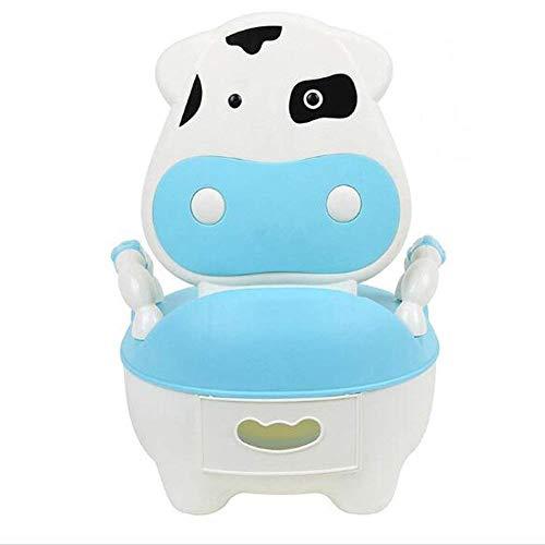 Bearhouse Vasino per Bimbi Bimbo Vasetto WC per Bambini Animali con Coperchio Mucca Blu