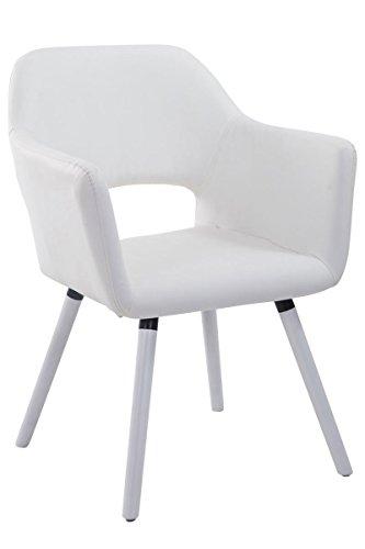Chaise pour visiteur Auckland Blanc Blanc
