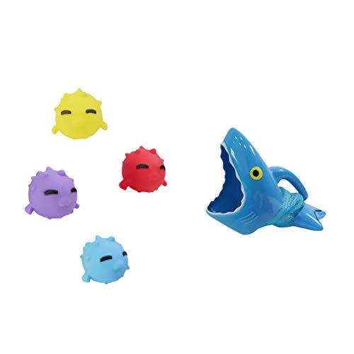 Dapei Stereo Shark Fishing Cartoon Tiere Bad Spielzeug Pinchable Sprechen Bad Spielen Entwicklung Bildung Spielzeug Geschenke Party Favors Outdoor und andere Veranstaltungen