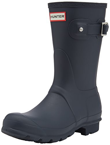 Hunter Original Short, Damen Kurzschaft Gummistiefel, Blau (Navy), 40/41 EU (7 UK) (Hunter Stiefel Frauen Kurze Blau)