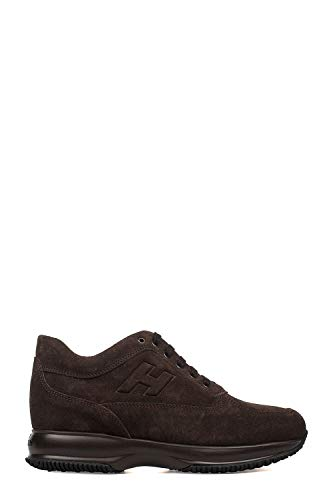 Hogan Interactive Sneaker Uomo con Logo in Rilievo-Brown-9